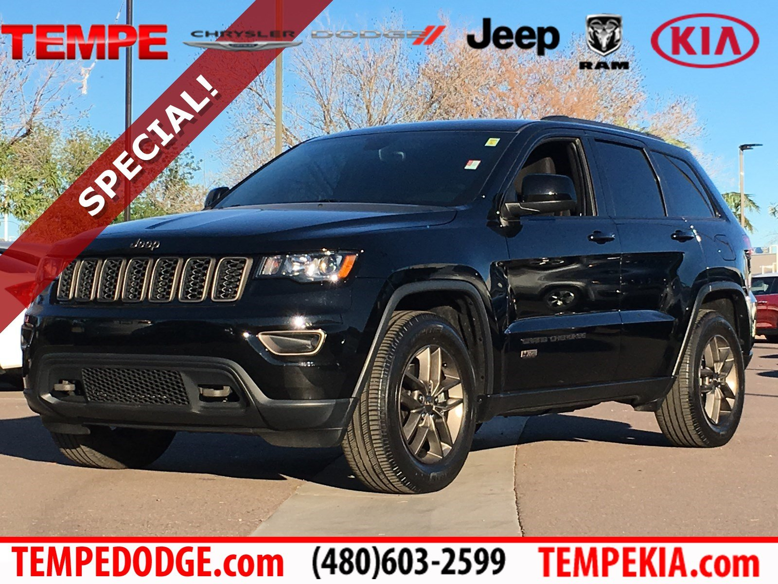 Jeep Grand Cherokee 75Th Anniversary >> Pre Owned 2017 Jeep Grand Cherokee 75th Anniversary Edition Rwd Sport Utility